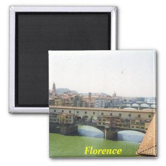 imã de geladeira de Florença Ímã Quadrado