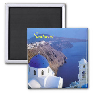 Imã de geladeira de Santorini