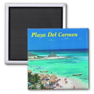 Imã de geladeira do Playa del Carmen Ímã Quadrado