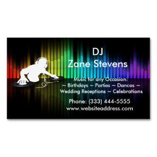 Ímã de giro do cartão de visita do vinil do DJ