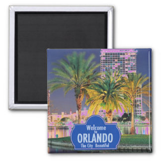 Ímã de Orlando Florida Ímã Quadrado