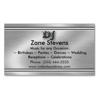 Ímã de prata escovado DJ do cartão de visita do