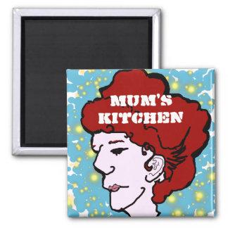 Ímã de Ranga da cozinha da mãe! Ímã Quadrado