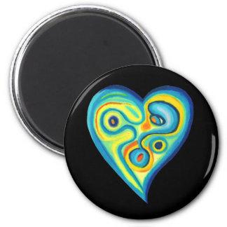 Ímã do azul do coração do amor imã