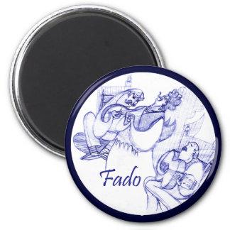 Ímã do cantor do Fado Ímã Redondo 5.08cm