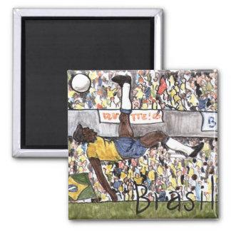 Ímã do futebol de Brasil Ímã Quadrado