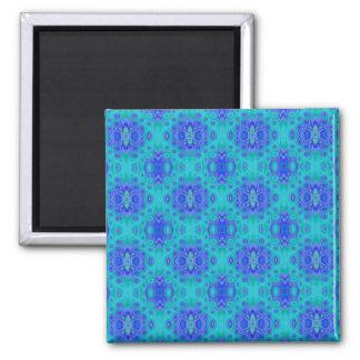 Ímã do impressão azul da lagoa ímã quadrado