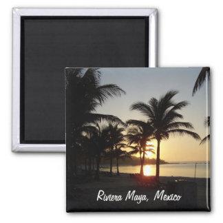 Ímã do mar das caraíbas de Cancun México do Maya d Íman