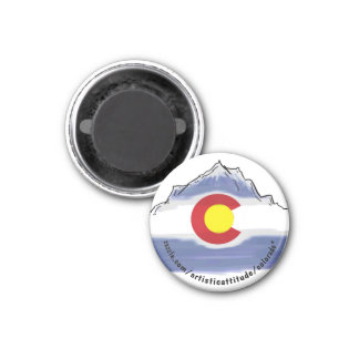 Ímã do promo da montanha de Colorado Ímã Redondo 2.54cm