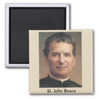 Ímã do retrato de St John Bosco Ímã Quadrado