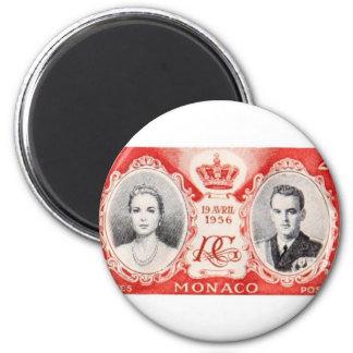 Ímã do selo postal dos direitos de Monaco Imas