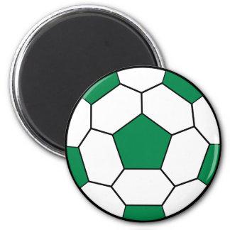 Ímã do verde da bola de futebol ímã redondo 5.08cm