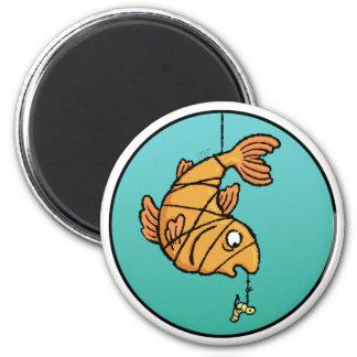 Ímã em linha dos peixes ímã redondo 5.08cm