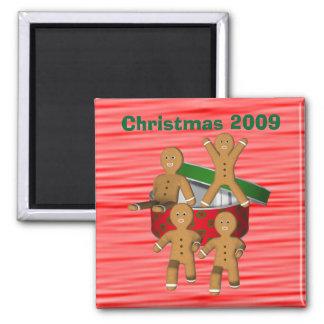 Ímã engraçado do feriado do Natal dos homens de pã Ímã Quadrado