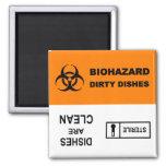 Ímã estéril da máquina de lavar louça do Biohazard Ímã Quadrado