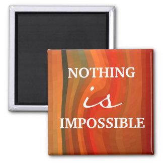 Ímã inspirador - atitude das citações de 3 palavra ímã quadrado