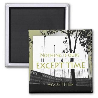Ímã inspirador das citações de Goethe Ímã Quadrado