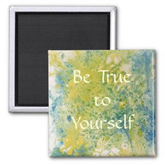 Ímã inspirador das citações do auto ímã quadrado