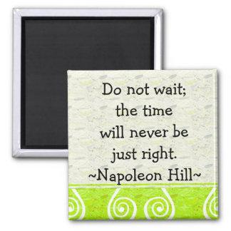 Ímã inspirador das citações do monte de Napolean ( Ímã Quadrado