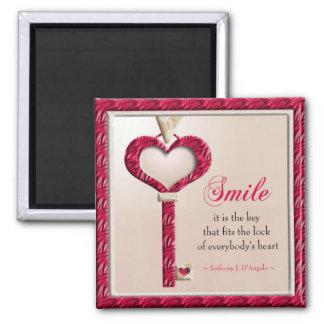 Ímã inspirador das citações do sorriso ímã quadrado