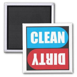 Ímã limpo sujo para a máquina de lavar louça imans