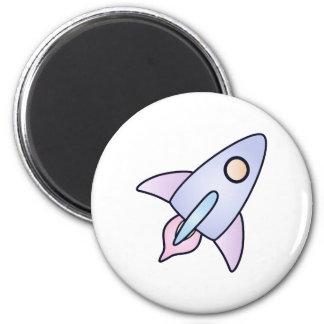 ímã pastel do foguete de espaço ímã redondo 5.08cm