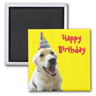 Ímã personalizado do feliz aniversario ímã quadrado