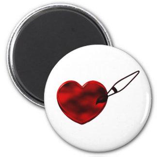 Ímã pintado do coração imãs