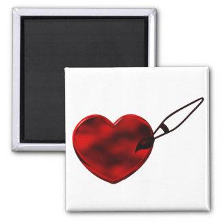 Ímã pintado do coração imas