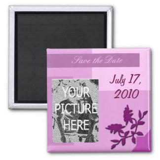 Imã salve a data com foto ímã quadrado