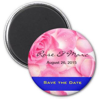 Imã salve a data cor-de-rosa bonito