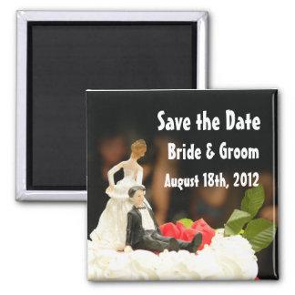 Imã salve a data de arrasto do marido da esposa en ímã quadrado