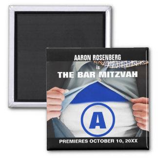 Imã salve a data do herói de Mitzvah do bar Ímã Quadrado