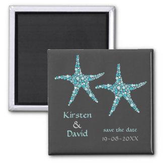 Imã salve a data dos pares da estrela do mar do ímã quadrado