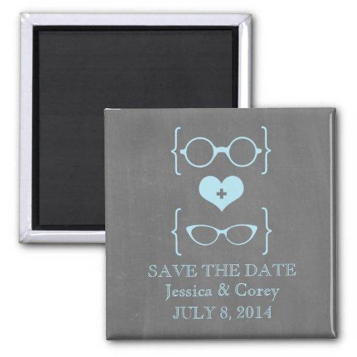 Imã salve a data Geeky do quadro dos vidros Ímã Quadrado