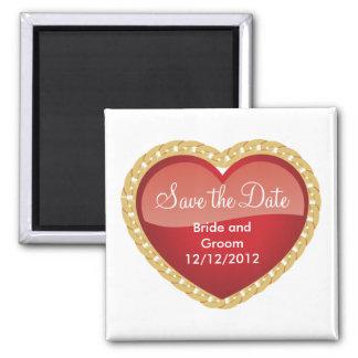 Imã salve a data original personalizada ímã quadrado