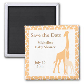 Imã salve o dia do girafa da mamã e do bebê