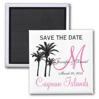Imã salve o dia do monograma do casamento do ímã quadrado