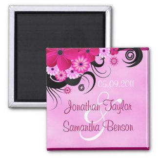 Imã salve o dia floral do hibiscus cor-de-rosa