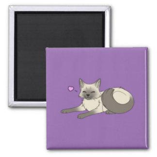 Ímã Siamese bonito do gatinho Ímã Quadrado