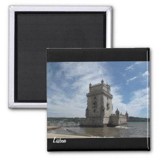 Ímã-Torre de Belém de Lisboa Ímã Quadrado