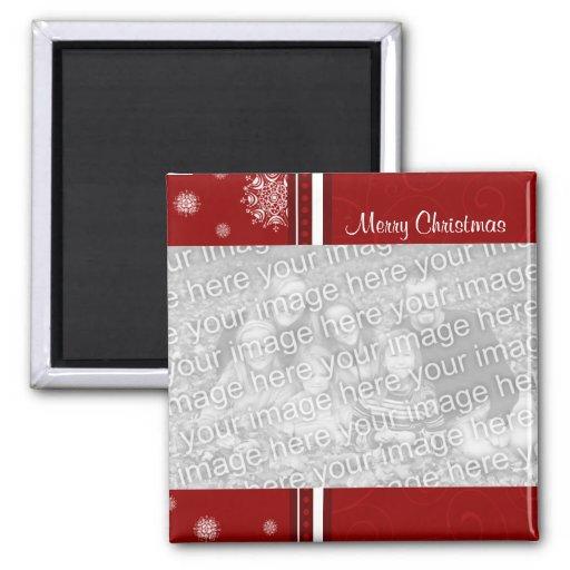 Ímã vermelho da foto do Feliz Natal Imãs De Refrigerador