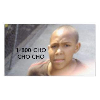 Imagem 022, 1-800-CHO CHO CHO Cartão De Visita