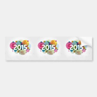 Imagem 2015 do ano novo adesivo de para-choque