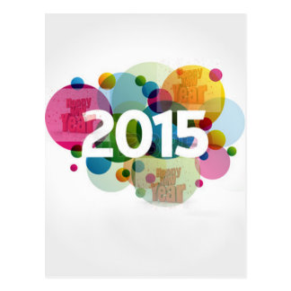Imagem 2015 do ano novo cartão postal