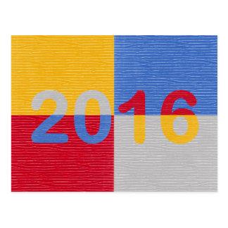 Imagem 2016 do ano novo cartão postal