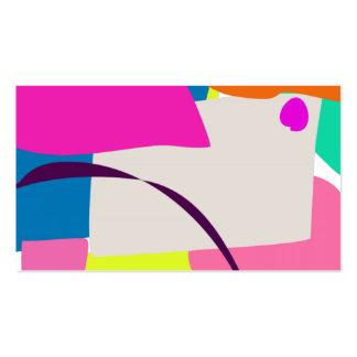 Imagem abstrata colorida cartões de visitas