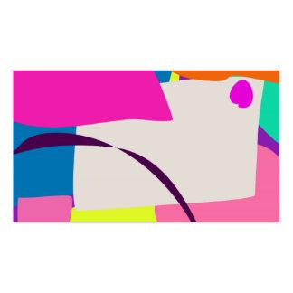 Imagem abstrata colorida modelo cartões de visitas