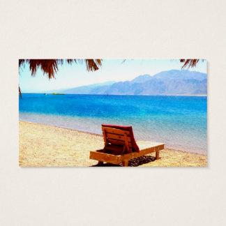 imagem arenosa da água azul da natureza da praia cartão de visitas