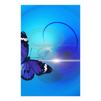 Imagem azul da borboleta papelaria